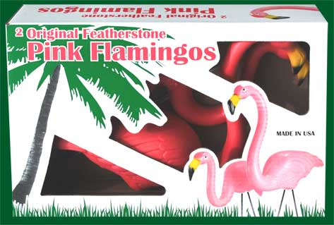 1 Display Box - 1 Pair of Flamingos (2 flamingos)